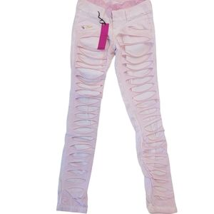 Dqmane Pink Distressed with lining Sz 27